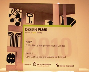OPTILED ARRAY WINS Prestigious Design Plus Powered by Light + Building Award